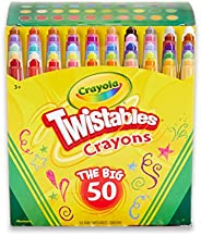Crayola Twistables Crayons Coloring Set, Kids Craft Supplies, Gift, 50 Count