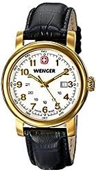 Wenger Women's 01.1021.109 Urban Classic 3H Analog Display Swiss Quartz Black Watch