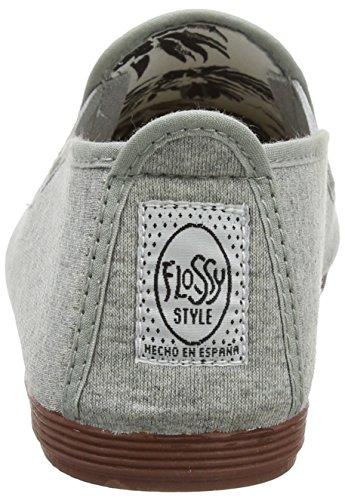 Flossy Arnedo, Espadrilles Femme, Noir, Taille Unique Grey (Jersey)