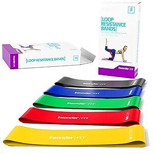 Widerstandsbänder Fitnessband Set - Loop Gummi Fitnessbänder (5) -...