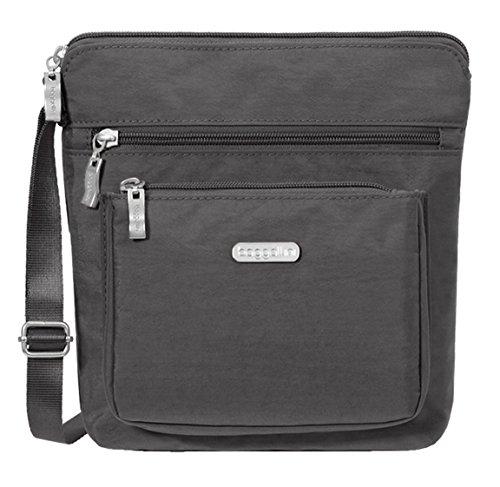 Baggallini Pocket Crossbody Travel Bag, Charcoal