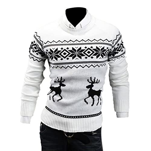 9f01d392b chic WSPLYSPJY Mens Ugly Christmas Sweater Reindeer Climax Tacky ...