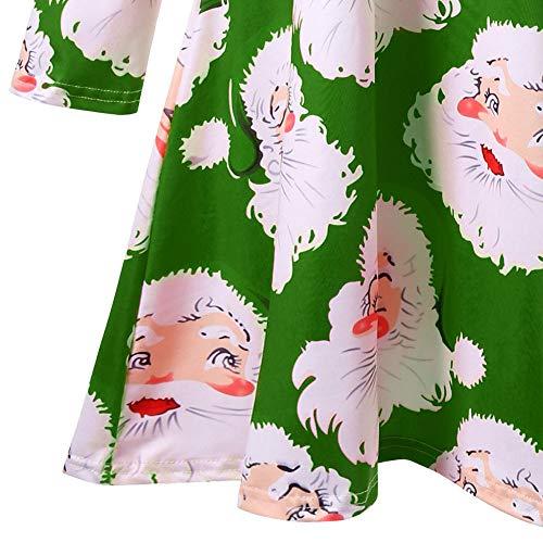 Abito Chic Donna da sera aderente da natalizi Lungo verde lunghe Stampa Vetement Angelof sera accessori maniche XqSRPR