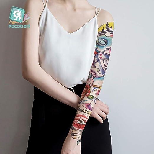 tzxdbh 3pcs-Brazo Completo Tatuaje Temporal Manga ángel Pavo Real ...