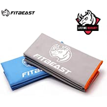 Microfiber Towel for Camping FitBeast Quick Dry Towel for Travel, Super Absorbent Swim Towel, Ultra Compact Beach Towel for Camping, Gym, Swimming, Backpacking, Fitness, Yoga, Pilates, Bath, Shower