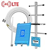 Subroad Cell Phone Signal Booster for Home Office Verizon ATT T-Mobile Band12/13/17 Dual Band 4G LTE Cellular Repeater/High Gain Amplifier Kit Up to 1500-2000 Sq Ft Boosts Whole Home Signal Coverage