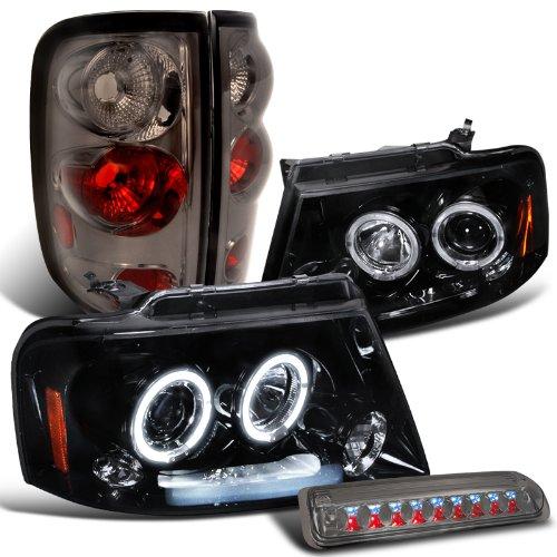 Glossy Black Headlights Smoke Brake