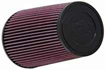 K&N RE-0810 Universal Clamp-On Air Filter: Round Tapered; 3 in (76 mm) Flange ID; 9 in (229 mm) Height; 6 in (152 mm) Base; 4.625 in (117 mm) Top