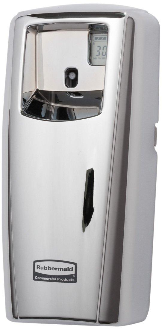 Spray Air Freshener Dispenser, (2) D Batteries, 6000 cu. ft, Silver