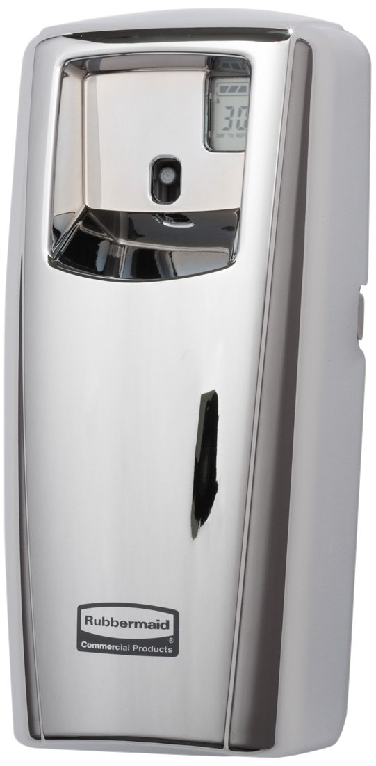 Rubbermaid Commercial 1793542 Standard Odor-Control Aerosol Dispenser, Dispenser with LCD Display, Chrome