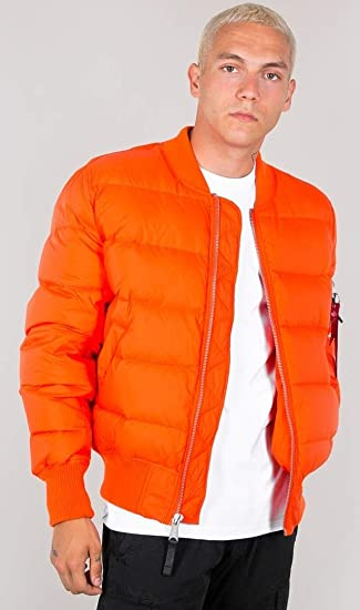 483e8f4cd8ba5 Alpha Industries MA-1 Puffer Down Jacket  Amazon.co.uk  Clothing