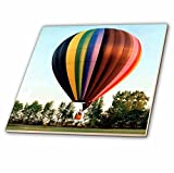 3dRose ct_1154_1 Hot Air Balloon Ceramic Tile, 4-Inch