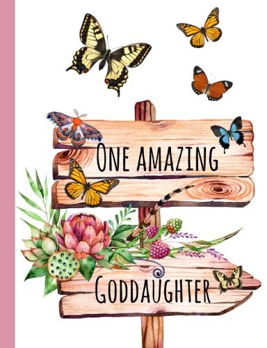 One Amazing Goddaughter: Gifts for Goddaughter,From Godmother,Godfather, Godparents, Journal, Notebook, lined paper, diary,Cute,Love,Present, - Godmother Family Journal