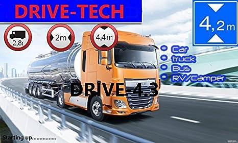7 Zoll GPS Navi, Navigationssystem, Navigationsgerä t, fü r LKW Truck mit Rastplatzsuche, 24 V, ü ber 50 Lä nder Europa. Neuste Karten sowie Radarwarner, Erweiterbarer Speicher, Fahrspurassistent DRIVE-TECH