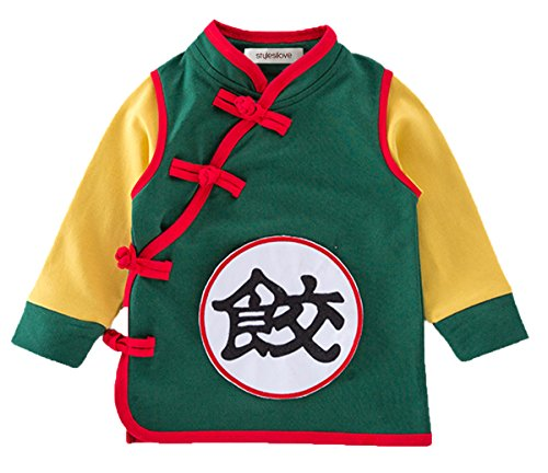 ds Baby Boys Traditional Chinese Inspired Long Sleeved Top Sweatshirt (90/18-24m, Dumpling Green) ()