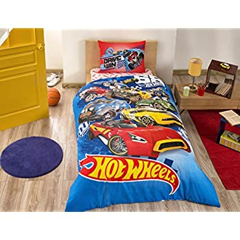 Disney Hot Wheels Boyu0027s Kidu0027s Twin Duvet/Quilt Cover Set Single / Twin Size  Kids Bedding (Comforter Sold Separately, Not In This Set)