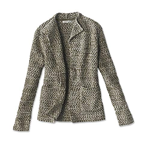 Orvis Women's Natural Wonders Sweater Jacket, Olive/Natural, Large
