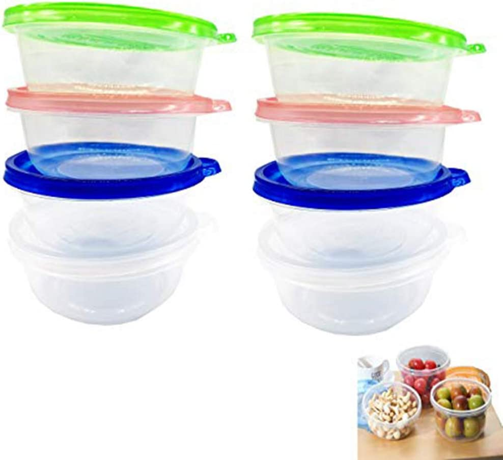 SOHAPY 15 OZPlastic Food Storage Containers with Lids ids lunch boxes BPA Free Reusable Great for Slime Party Supplies Meal Prep Portion Control Restaurant Deli Cups Freezer Dishwasher Safe (30)