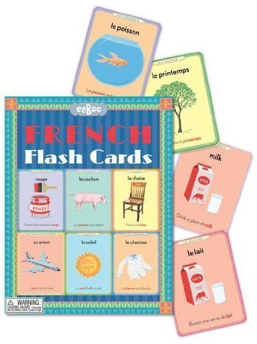Eeboo French Flash Cards Language Vocabulary Learning New by eeBoo