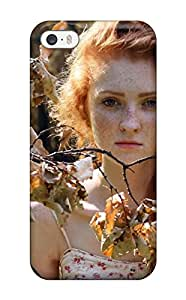 Special Design Back Autumn Fairy Branches Leafs Rust Freckles Redhead Trees People Women Phone Case Cover For Iphone 5/5s