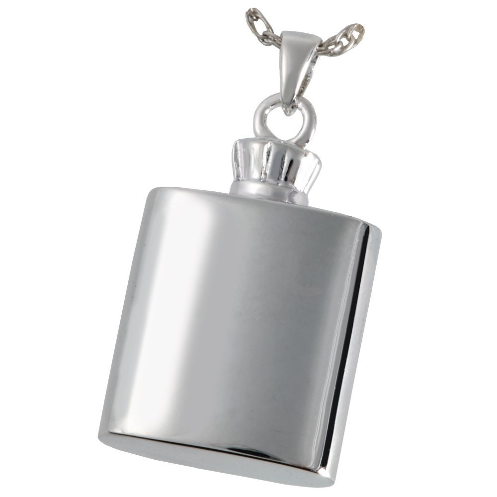 Memorial Gallery 3335s Flask Sterling Silver Cremation Pet Jewelry
