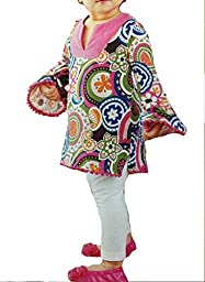 Mud Pie Baby-Girl\'s Paisley Tunic Blouse (9-12)