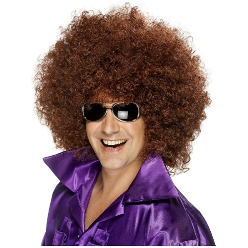 Brown Afro Wig (Smiffy's Men's Mega-Huge Brown Afro Wig, One Size, 5020570420362)