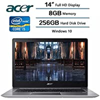 2018 Newest Flagship Acer Swift 3 Laptop, 14 Inches LED-backlit Widescreen FHD IPS Display, 8 GB DDR4 SDRAM, 256 GB Solid State Drive, Intel Core i5-8250U Processor at 1.6GHz, Windows 10 Home