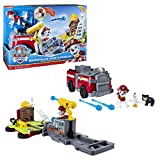 Paw Patrol, Marshall's Ride 'N' Rescue, Transforming 2-in-1 Playset & Fire Truck, for Kids Aged 3 & Up