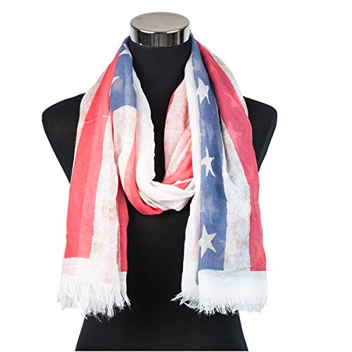 Old Glory Oversized Scarf Patriotic American Flag Print