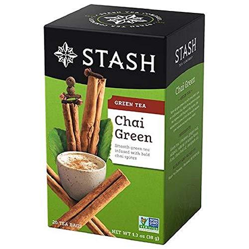 Stash Tea Green Chai Tea, 20 Count Tea Bags in - Chai Green Tea Stash