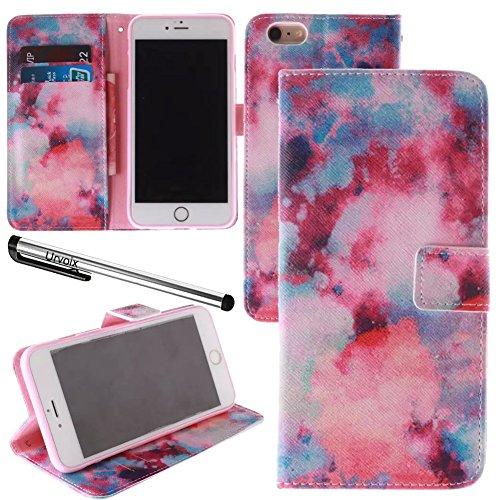 Für 11,9cm iPhone 6/6S, urvoix (TM) Galaxy Nebel PU Leder Flip Wallet Case Cover–W/Bild auf Karte Halter, Magnetverschluss, Ständer Funktion für iPhone 6/6S (passt nicht für 6/6splus)