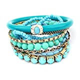 Bohemian Style Beaded Stretch Bracelet Bejeweled Bangle Bracelet, Bracelet Set