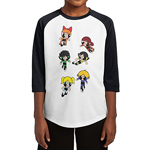 kra8er-powerpuff-rowdyruff-teenager-boys-girls-3-4-sleeves-blended-baseball-t-shirt-100-cotton