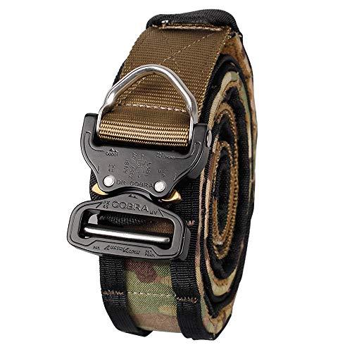 IDOGEAR Men Cobra Buckle Shooting Belt Tactical Inner&Outer Set Airsoft Rappel Gear (Large(39.4-42.9inch), Multicam)