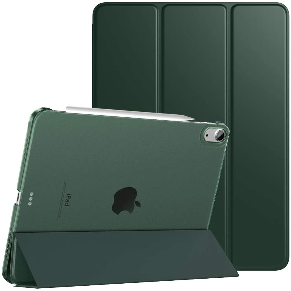 TiMOVO Case for New iPad Air 4th Generation, iPad Air 4 Case (10.9-inch, 2020), [Support 2nd Gen Apple Pencil Charging] Slim Stand Protective Cover Shell with Auto Wake/Sleep - Midnight Green