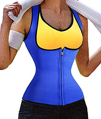 waist cincher corset top body shaper shapewear tank top sauna body suits for women weight loss long torso seamless thigh firm compression fashion cheap top quality breathable fat burner (4XL, Blue) - Waist Trainers 4x