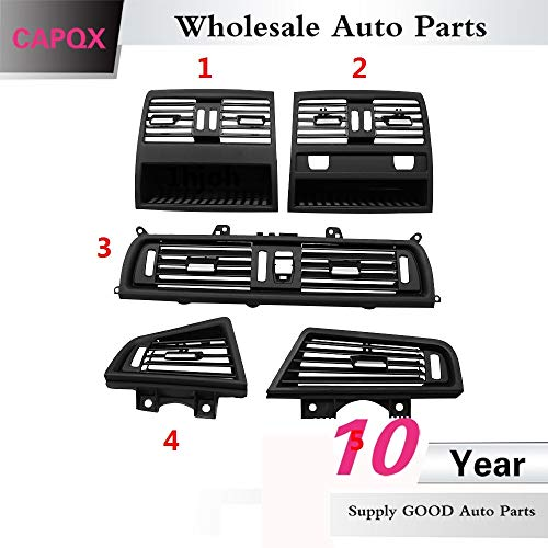Fastener & Clip CAPQX for BMW 5 F10/F18 10-17 Auto Front Panel Center Air Conditioner Vent Grille Vent Cover Rear Air Intake Outlet Grille Vent - (Color Name: No.1)