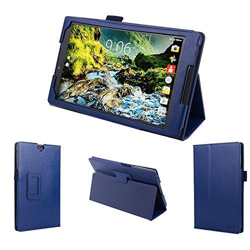 wisers 2016 Verizon Ellipsis 8 HD QTASUN1 QTASUN1B 8-inch tablet case/cover, dark blue (navy)