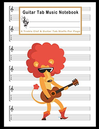 (Guitar Tab Music Notebook: A Large Size 8.5