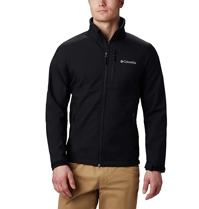 Columbia Men's Ascender Softshell Jacket, Water & Wind Resistant, Black, Large best men's jackets