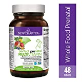 New Chapter Perfect Prenatal Vitamins, 48 ct, Organic Non-GMO Ingredients - Eases Morning Sickness with Ginger, Best Prenatal Vitamins Fermented with Wholefoods for Mom & Baby - (Packaging May Vary)