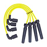 Spark Plug Wires Sets Igniton Cables Performance Silicone Leads for Chevrolet Aveo Daewoo Nubira 1.6L 2.0L 1999-2007 96497773