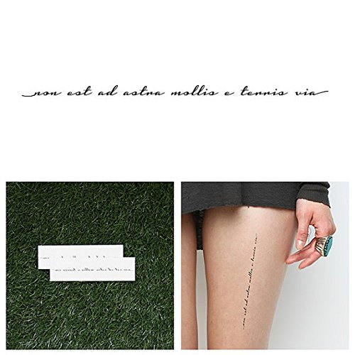 Tattify Movitational Latin Phrase Temporary Tattoo - Limitless (Set of 2) - Other Styles Available - Fashionable Temporary Tattoos - Long Lasting and Waterproof