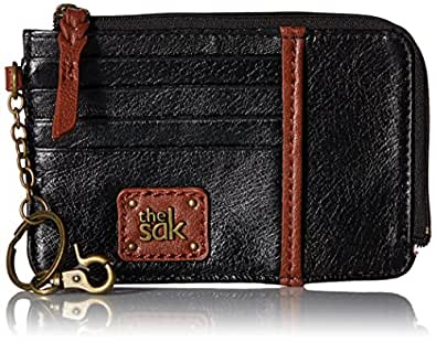 The Sak womens Iris Card Wallet, Black Onyx, One Size