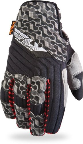 Fly Racing Switch MX Men's Off-Road/Dirt Bike Motorcycle Gloves - Black/Grey / Size 7 (Mx Switch Gloves)