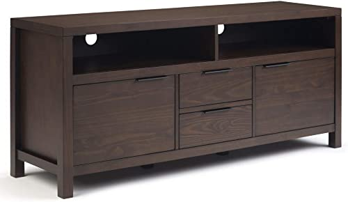 Simpli Home Hollander SOLID WOOD Universal TV Media Stand