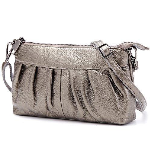 Lecxci Womens Leather Crossbody Clutch