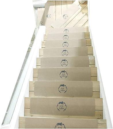 Gyl Alfombras para escaleras Alfombrilla for Escalera, Manta Autoadhesiva Antideslizante, Antideslizante Y de Corte Libre for Interiores de La Casa Escalones de Madera Maciza Alfombras para escaleras: Amazon.es: Hogar