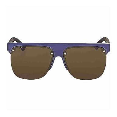7f739b050 Gucci Hombre GG0171S 004 Gafas de sol, Azul (4/Brown), 60: Amazon.es: Ropa  y accesorios
